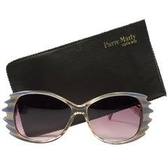"New Vintage Rare Pierre Marly "" Rush "" Small Avantgarde 1960 Sunglasses"