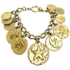 Yves Saint Laurent YSL 1980s Vintage Charm Bracelet