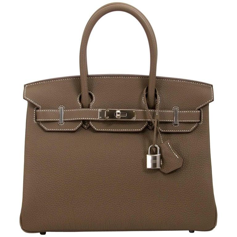 28c9c9eb9d2 BRAND NEW Hermès Birkin 30 Etoupe Togo PHW For Sale at 1stdibs