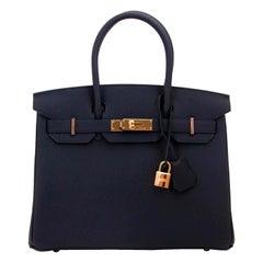 Brand New Hermès Birkin 30 Bleu Nuit Togo GHW