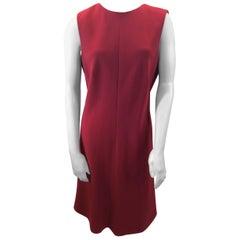Giorgio Armani Red Wool Dress NWT
