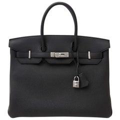 NEUE Hermès Birkin 35 Togo Schwarz PHW
