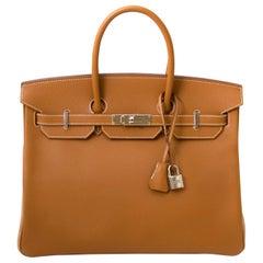 *Never Used* Hermès Birkin 35 Epsom Gold PHW