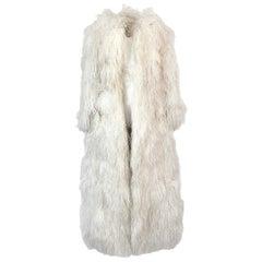 1960s Michael Novarese Ostrich Feather Full Length Maxi Coat