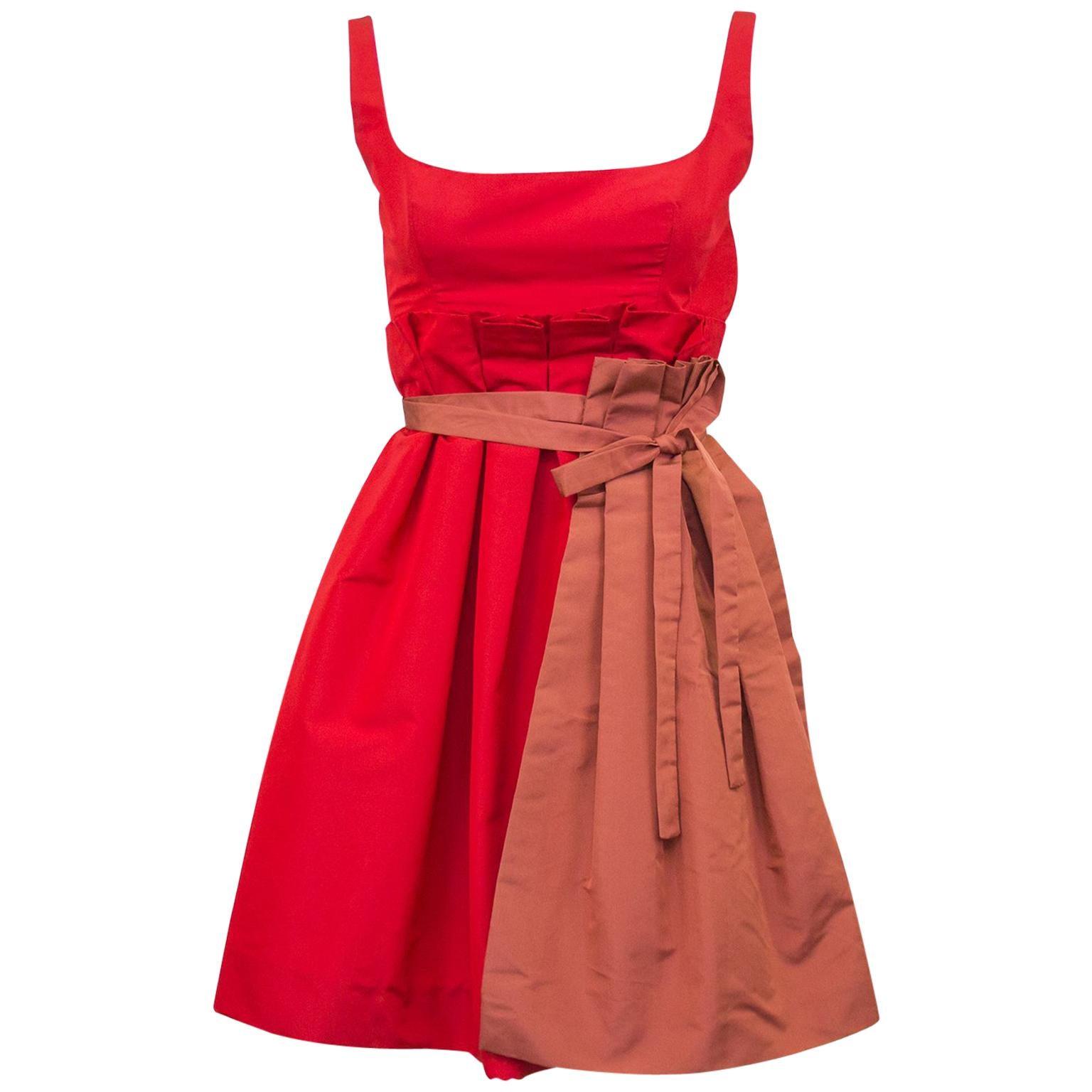Red Silk Taffeta Cocktail Dresses