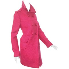 Pedigree Prada Fuschia Wool/Mohair Double Breasted Coat