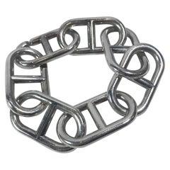 "Metallic Sterling Silver ""alea Geant Chaine D'ancre"" Bracelet"