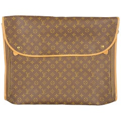 Vintage LOUIS VUITTON Brown Monogram Coated Canvas Luggage Interior Bag