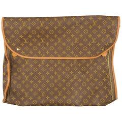 Vintage LOUIS VUITTON Brown Coated Monogram Canvas Luggage Interior Pouch