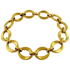 Chanel Vintage Gold Toned Chain Link Necklace