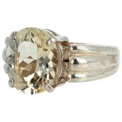 Yellow Labradorite Sterling Silver Ring