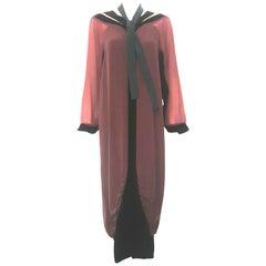 Kron's Art Deco Silk Multi Color Dress With Defined Streamline Stylized Look