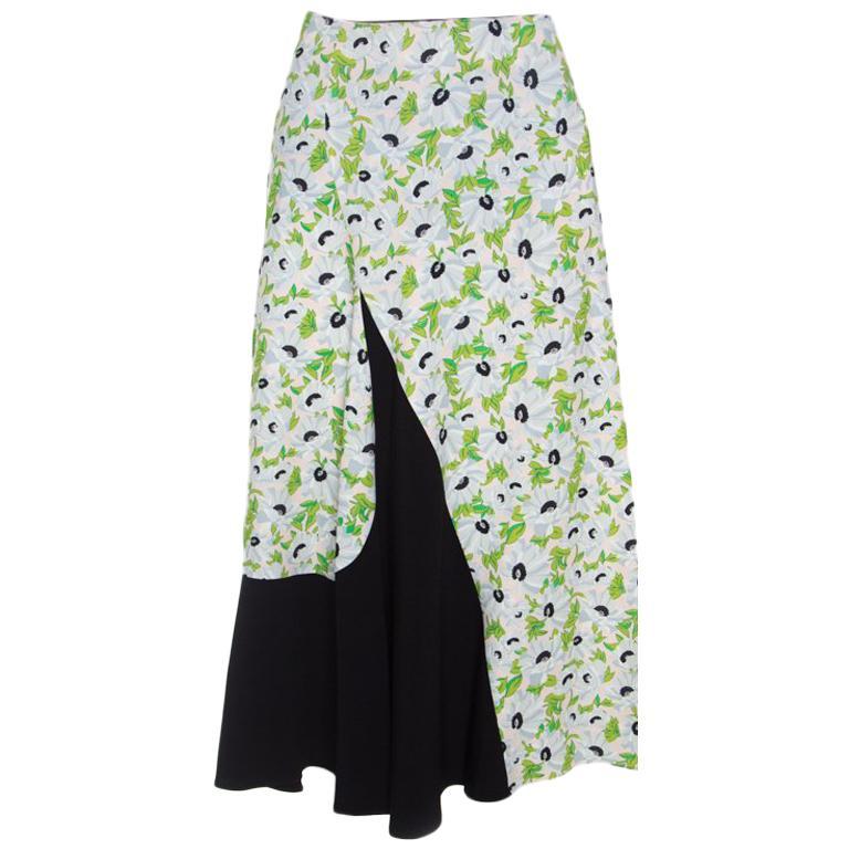 757e871803a3 Stella McCartney Colorblock Wildflower Print Florentina Midi Skirt S For  Sale