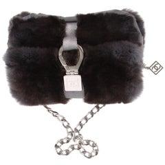 Chanel Classic Bag Feston Stitch - dark grey
