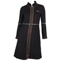 Chanel Paris Shanghai Collection Wool Coat - black