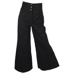 Chanel Bell Bottom Trousers - black