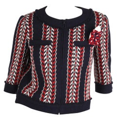 Chanel Wool Jacket - blue/red/white