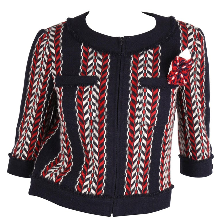 Chanel Wool Jacket - blue/red/white    For Sale