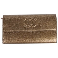 Chanel CC Wallet Caviar Leather - gold