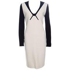 Roland Mouret Colorblock Knit Long Sleeve Kutim Dress L