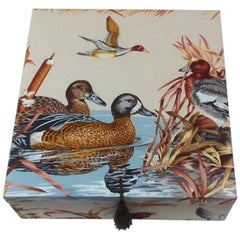 Sologne Pierre Frey Fabric Decorative Storage Box for Scarves