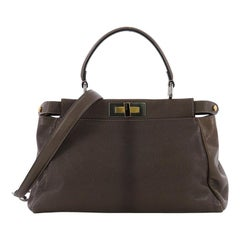 Fendi Peekaboo Handbag Ombre Leather Regular