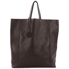 Bottega Veneta Vertical Tote Intrecciomirage Leather Small