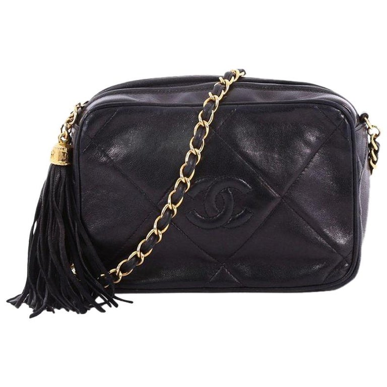 bccb00c7dfc205 Chanel Vintage Diamond CC Camera Bag Quilted Leather Small For Sale ...