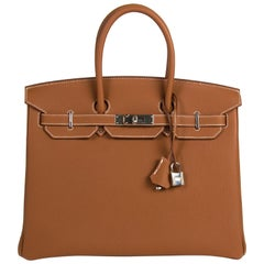 Hermès Birkin 35 Togo Gold PHW