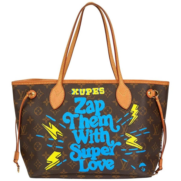 Louis Vuitton Xupes X Year Zero London Zap Them with Super Love Nevefull PM For Sale