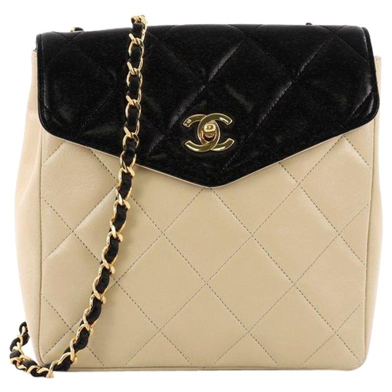 f4bf3fd2e555 Chanel Vintage Envelope Flap Bag Quilted Lambskin Small at 1stdibs