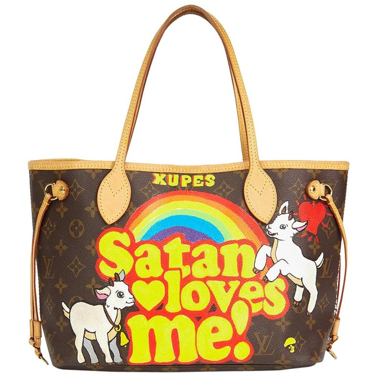 Louis Vuitton Xupes X Year Zero London 'Satan Loves Me' Neverfull PM For Sale