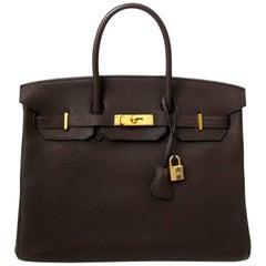 Hermès Birkin 35 togo Ebene GHW