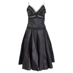 1980s Ermanno Scervino Black Silk Evening Gowns Dress