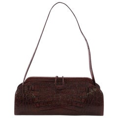 Nancy Gonzalez Frame Shoulder Bag Crocodile Small,