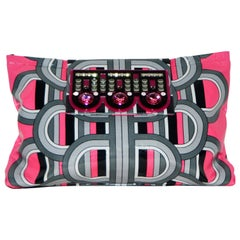 Holly Fulton's Art Deco Inspired Tribute Circa '30 Multi Color Crystal Clasp Bag