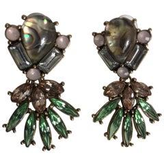 Oscar de la Renta unsigned Abalone Earrings