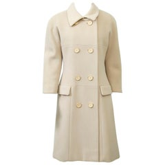Norell 1960s Beige Wool Coat