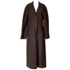 Chanel Long Brown Wool Coat with Style Seams, Fall 1999