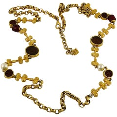 Karl Lagerfeld Vintage Gold Toned Sautoir Necklace