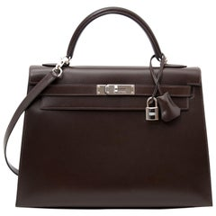 Hermes Kelly Chocolate 32  + Strap