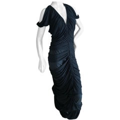 Yves Saint Laurent by Tom Ford  Deconstructed Black Cold Shoulder Evening Dress