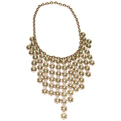 1930s Metal Floral Necklace