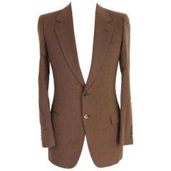 1990s Brioni Palatino Brown Wool Jacket