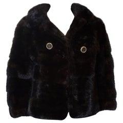 Vintage Dark Mink Jacket