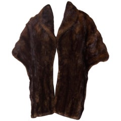 Vintage Mink Stole with Shawl Collar
