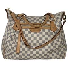 Louis Vuitton Damier Azur Evora MM Shoulder Handbag