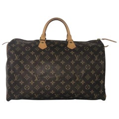 Louis Vuitton Monogram Speedy 40 Satchel Top Handle Handbag