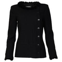 Chanel 03 Black Jacket W/ Mink Collar & Cuffs Sz 38