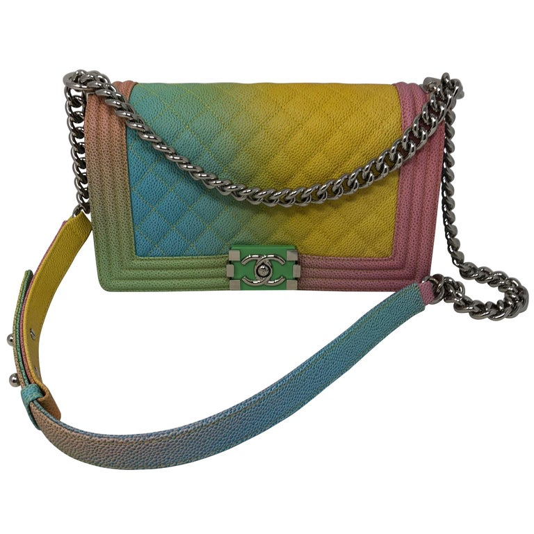 a175c2dc5e4e Chanel Rainbow Boy Bag at 1stdibs